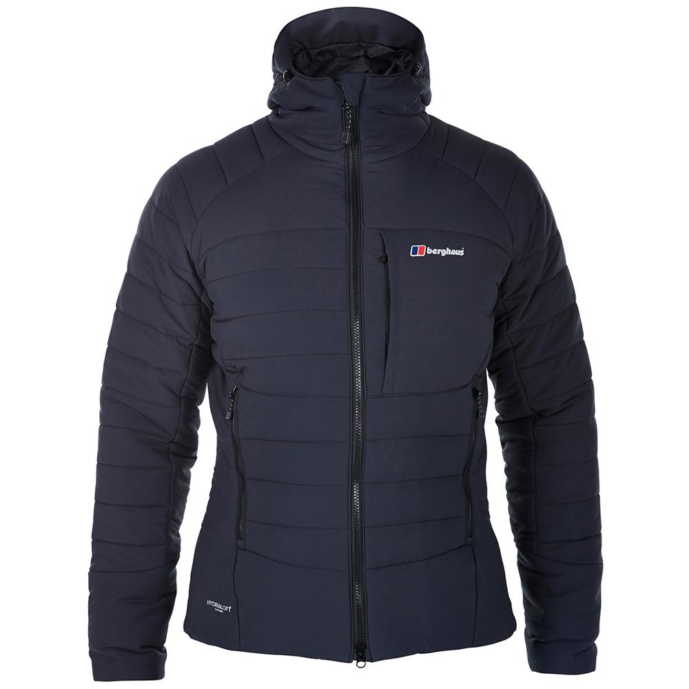 【Berghaus貝豪斯】男款BASTEIR溫度調節防潑科技棉外套H22M37黑