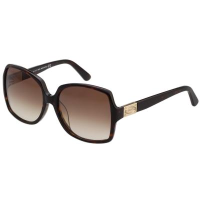 TOD'S 修飾臉型大方框 太陽眼鏡 (琥珀色)TO9126