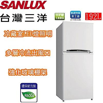 SANLUX 台灣三洋 192公升雙門小冰箱 SR-B192B3