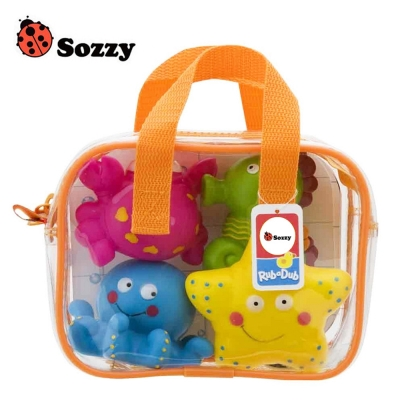 Sozzy 兒童軟膠噴水玩水洗澡玩具