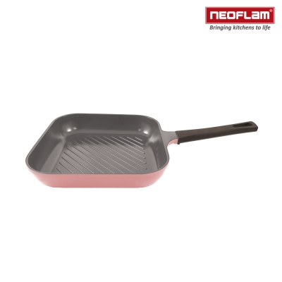 韓國NEOFLAM Mitra系列 28cm陶瓷不沾方型煎鍋