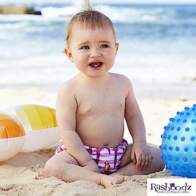 澳洲 RASHOODZ 兒童抗UV防曬游泳尿布褲 (Polly小鸚鵡)