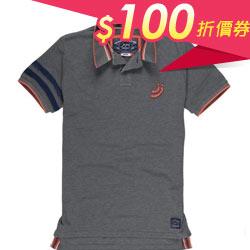低調灰造型短袖 男Polo衫
