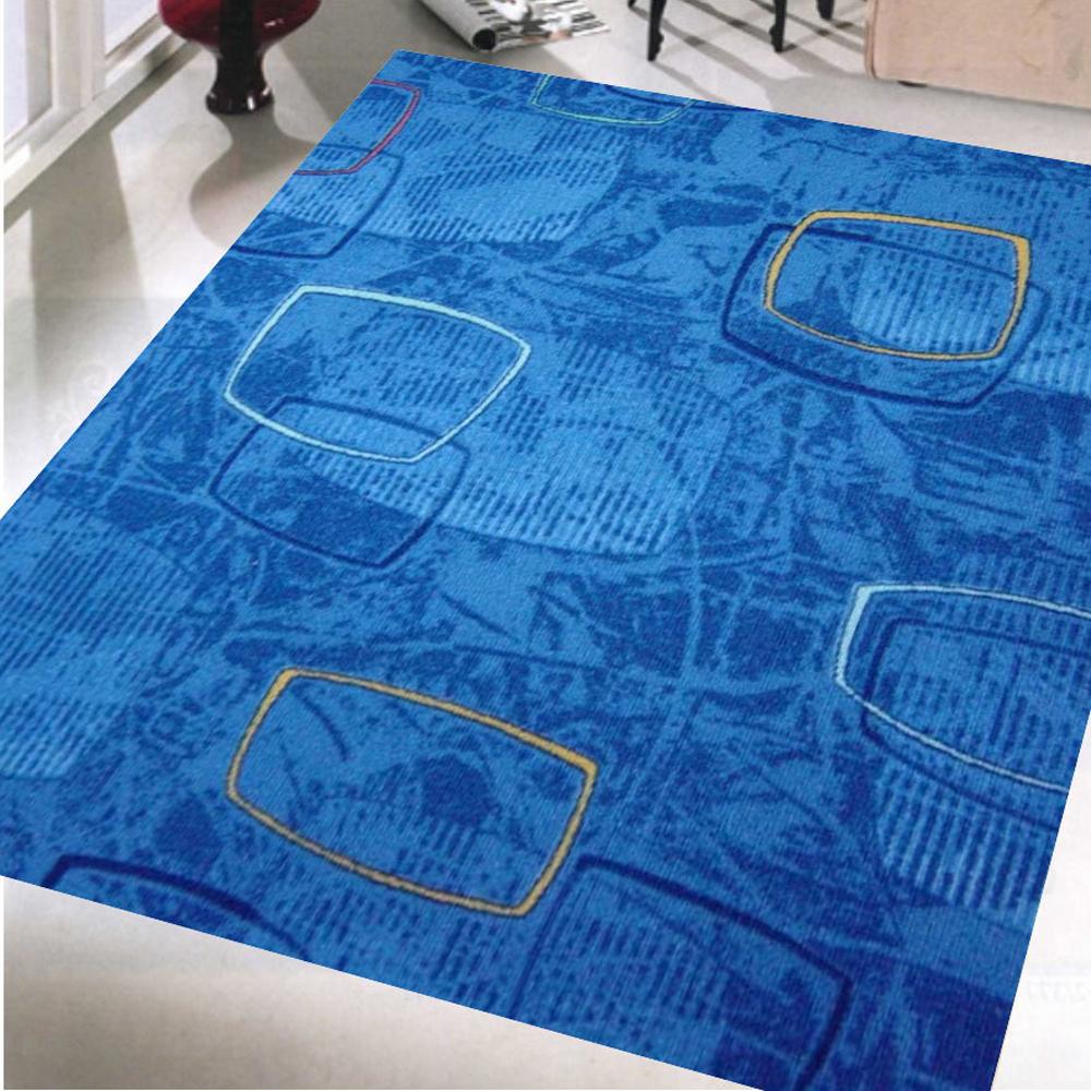 范登伯格 - 朝暘 進口地毯-藝術 (藍) (中款-150x200cm)
