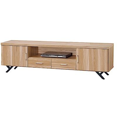 品家居 柏莫萊6.1尺橡木紋長櫃/電視櫃-182x40x52cm免組
