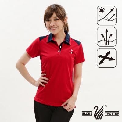 【遊遍天下】女款抗UV吸濕排汗機能POLO衫GS10017紅色