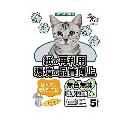 6包組 QQ KIT原香味環保紙砂5L