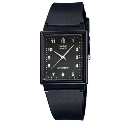 CASIO 超輕薄感簡約方型數字休閒錶(MQ-27-1B)-數字黑面/30mm