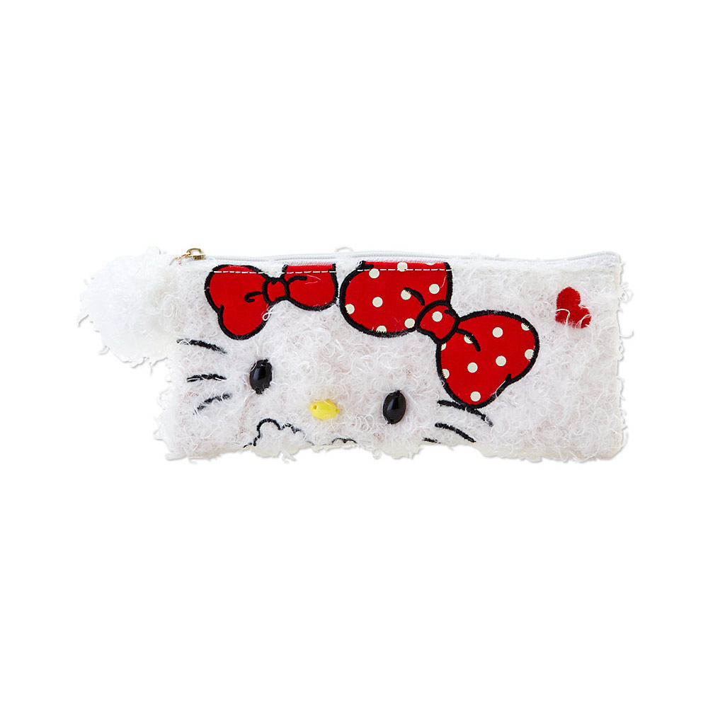 Sanrio HELLO KITTY蝴蝶結毛絨絨系列筆袋