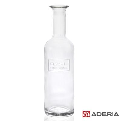 ADERIA 日本進口透明玻璃酒瓶750ml