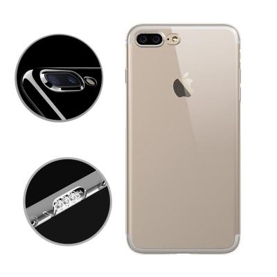 水漾 iPhone7+ (5.5吋)一體全包式帶防塵塞透明TPU手機軟殼