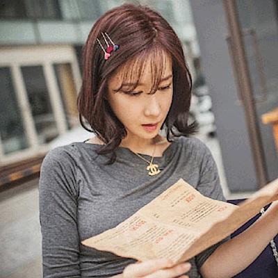 Hera 赫拉 極簡日系甜美文藝愛心髮夾2入組(顏色隨機)