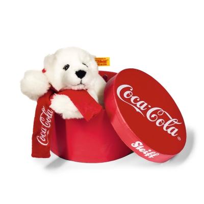 STEIFF德國金耳釦泰迪熊 - Coca Cola Polar 可口可樂熊(行李箱系列)