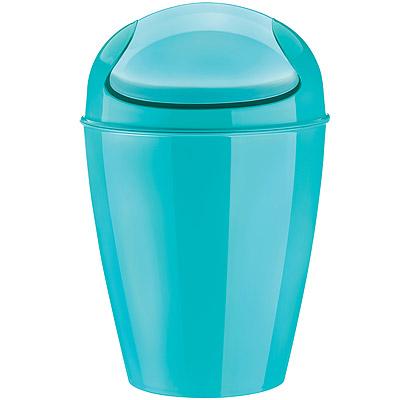 KOZIOL 搖擺蓋垃圾桶(湖綠M)
