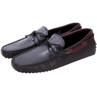 TOD'S Gommino 撞色編織綁帶豆豆休閒鞋(男鞋)
