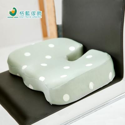 格藍傢飾 水玉涼感舒壓美臀墊-抹茶綠