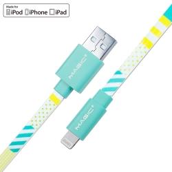 MAGIC Apple 8Pin 原廠認證 炫彩印花傳輸充電扁線(1.2M)