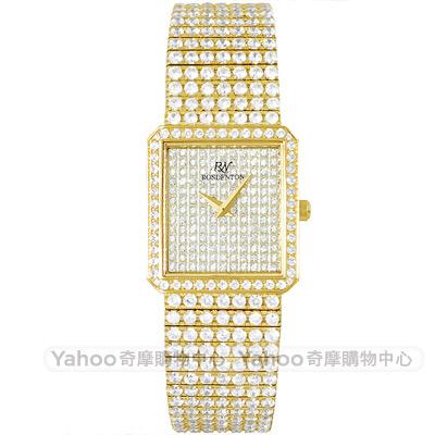 ROSDENTON 勞斯丹頓星光大道滿天星晶鑽手錶-金/ 24 mm
