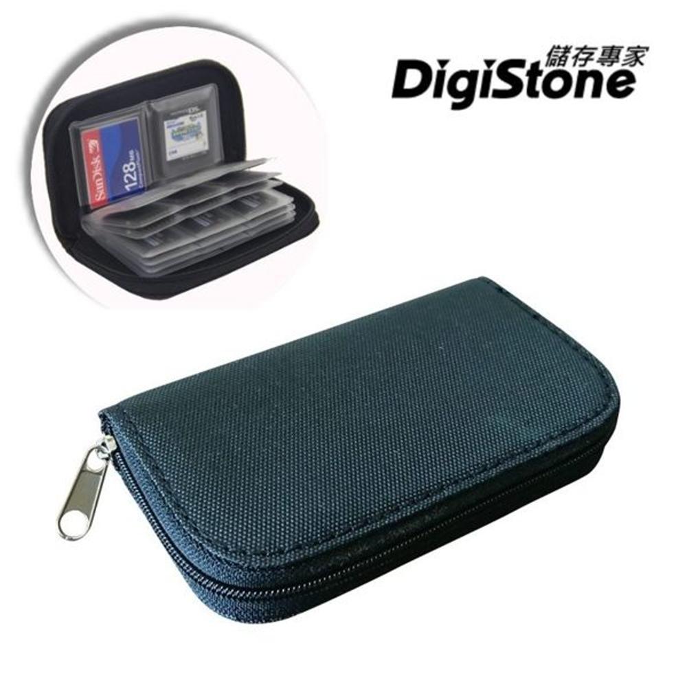 DigiStone 22片裝多功能記憶卡收納包(18SD+4CF)-黑X1P