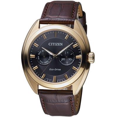 CITIZEN 星辰 S系列都會時尚光動能腕錶(BU4018-11H)-黑/43.5mm