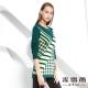 麥雪爾 千鳥格紋長版針織上衣-綠 product thumbnail 1