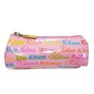 kitson 繽紛LOGO三角形化妝包 粉