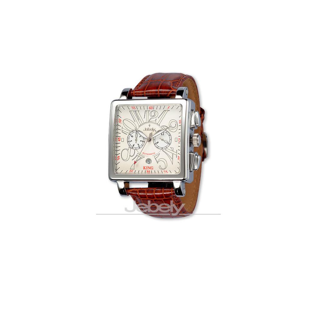 Jebely瑞士機械錶-萊茵河之戀系列-珍愛一世雙眼造型錶-白/38mm