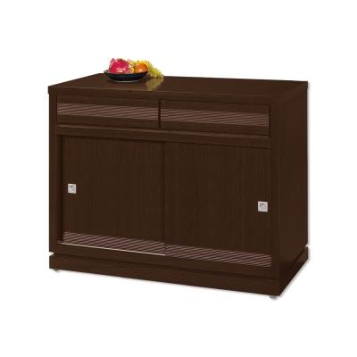 Bernice-斯坦3尺推門碗盤收納餐櫃-91x52x85cm