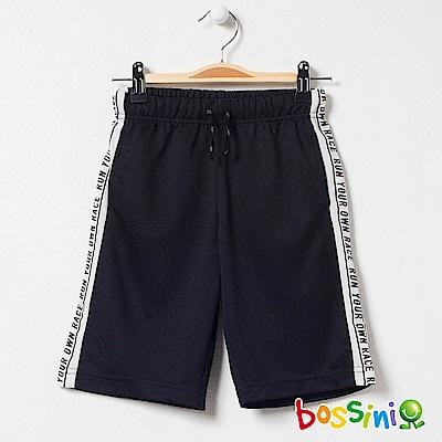 bossini男童-速乾針織短褲02黑