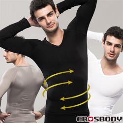 EROSBODY 男生 長袖健身塑身內衣 三色推薦
