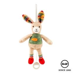 STEIFF德國金耳釦泰迪熊 - 嬰幼兒玩偶含音樂鈴 兔子 Rabbit  (北鼻音樂鈴)