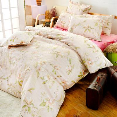 Grace Life 花都魅惑 精梳純棉加大涼被床包四件組