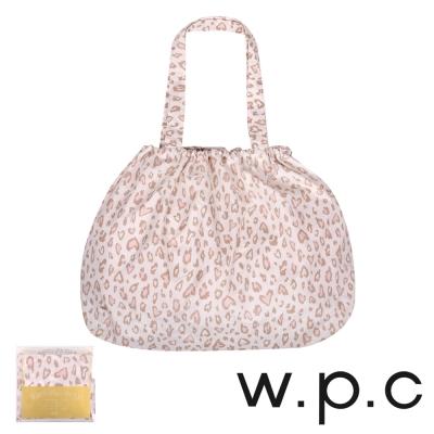 w.p.c 時尚包包雨衣/束口防雨袋 (米白豹紋)