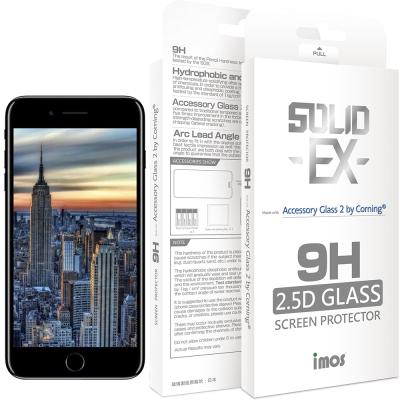 iMOS Apple iPhone 8 Plus 2.5D 強化玻璃 螢幕保護貼(黑邊)