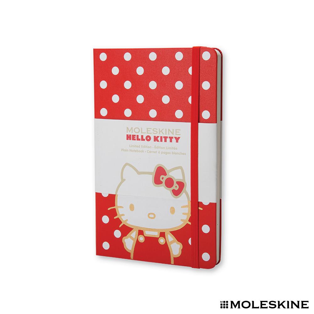 MOLESKINE 限量版 Hello Kitty 筆記本(L/硬殼/素面)