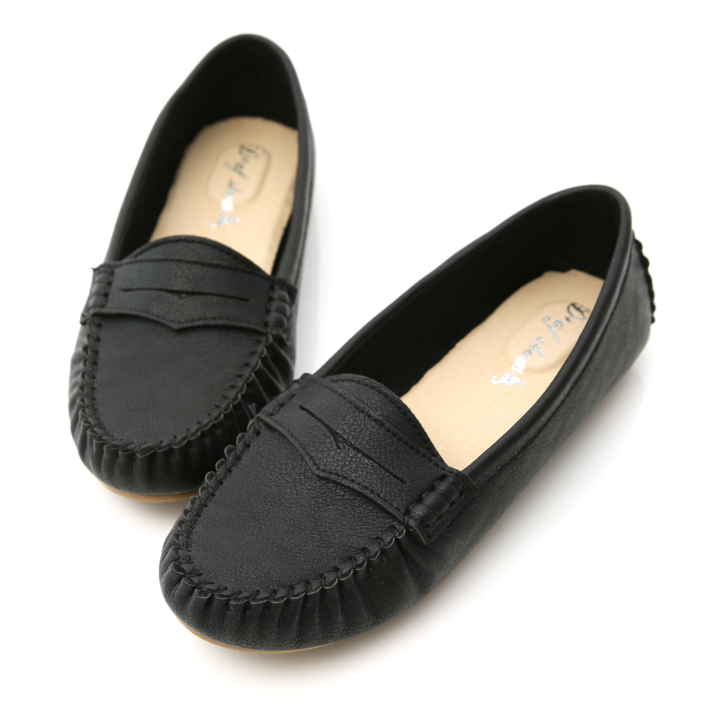 D+AF 悠活主張.MIT舒適莫卡辛豆豆鞋*黑