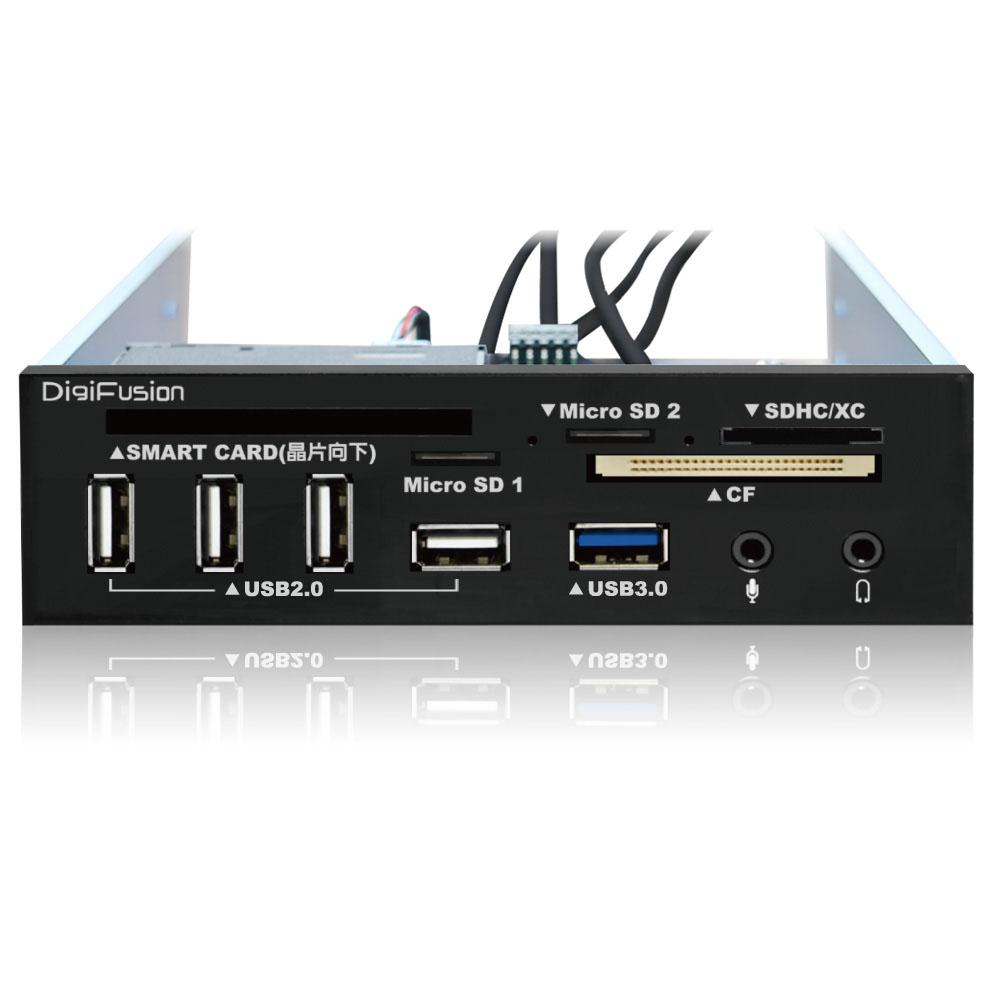 伽利略 5.25吋多介面整合器 USB 3.0 讀卡機+2.0 ATM +HUB