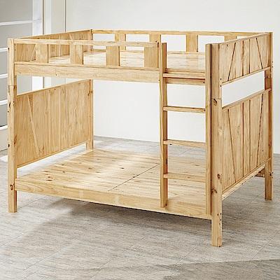 AS-萊拉多功能可拆式紐松實木雙層床-114x202x165cm