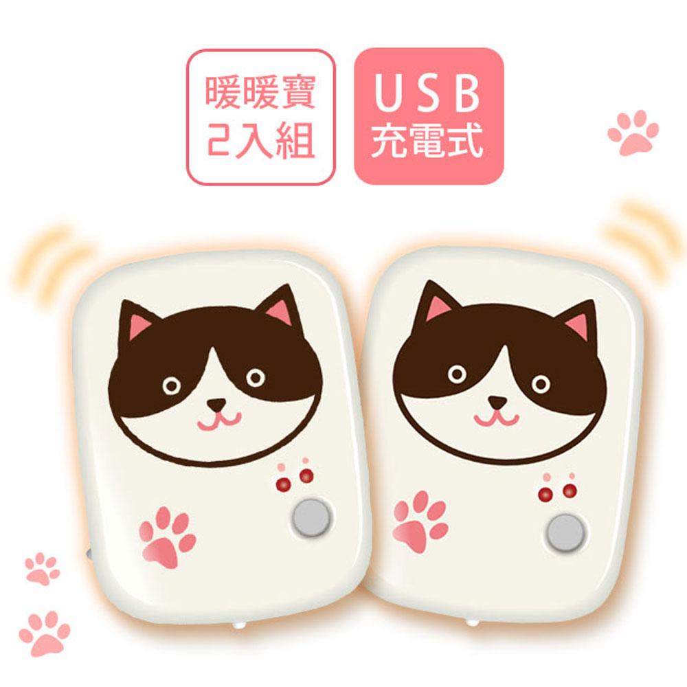 勳風 2入組 貓咪怕冷懷爐/暖暖寶/電暖蛋(HF-871) LED照明+送USB充電器
