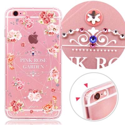 YOURS APPLE iPhone6s Plus奧地利水晶彩繪防摔氣墊手機鑽殼...