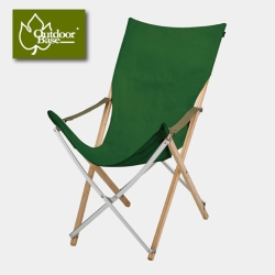 【OutdoorBase】大和-高背竹材椅.高背摺疊椅_草綠