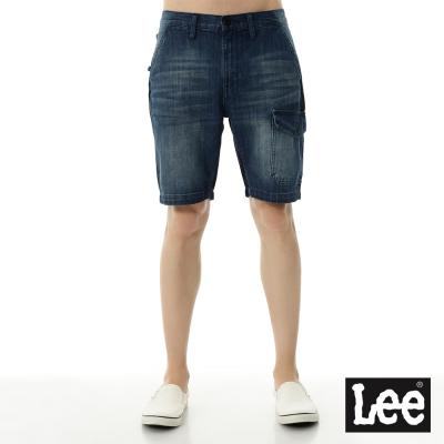 Lee 牛仔雙色拼接短褲-Urban Riders系列-男款-藍