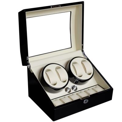 PARNIS BOX 自動上鍊盒4+6只入 鋼琴烤漆手錶收藏盒 自動08-BW