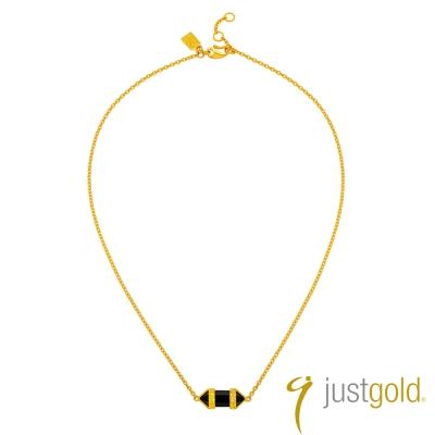 鎮金店Just Gold 黃金項鍊(16吋)-神秘魔力
