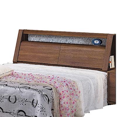 品家居 愛絲6尺木紋雙人加大床頭箱(二色可選)-182x31x107.5cm免組