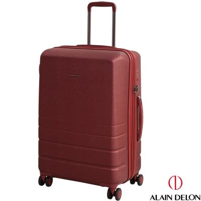 ALAIN DELON 亞蘭德倫 25吋皇家霧面系列可加大行李箱(紅)