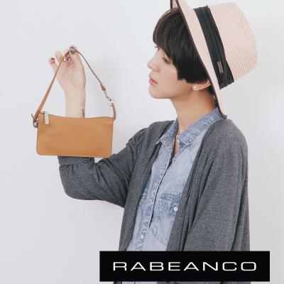 RABEANCO-頂級牛皮多層手拿包長夾-駝