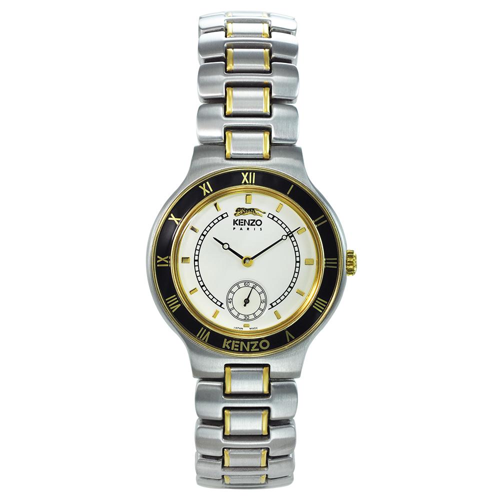 KENZO 野性之美時尚腕錶-米白色/34mm(福利品)