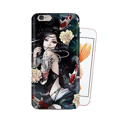 張小白 iPhone 6s/6 Plus 古典奇幻插畫 滿版空壓保護殼(蓮生)