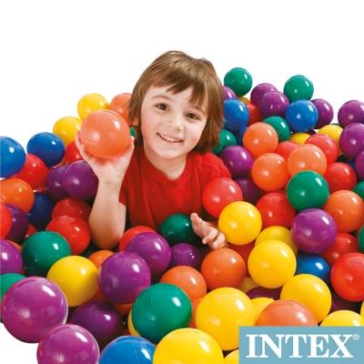 INTEX 100顆遊戲球-直徑8cm